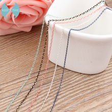 Ritoule Korean jewelry chain candy color fine chain flat O word DIY handmade jewelry accessories chain necklace material