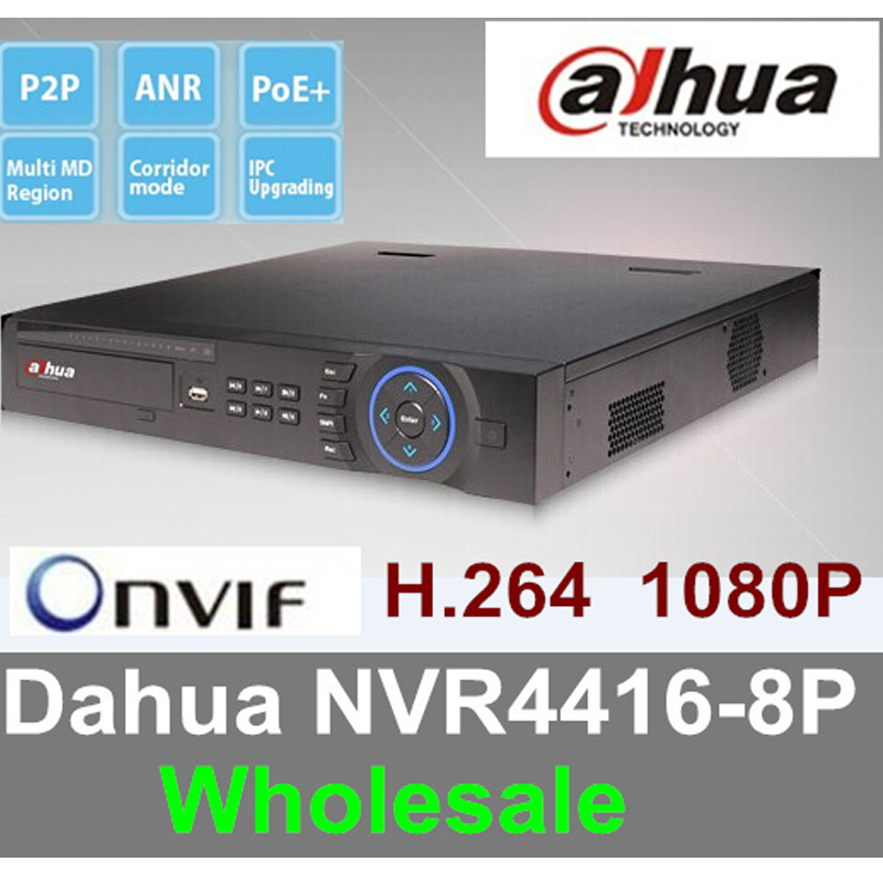 16CH Network Video Recorder DAHUA NVR NVR4416-8P support ONVIF 1080P free shipping mb barbell mbevkl 20кг