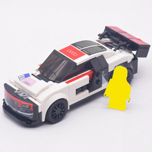 Technic City Super Racers Speed Champion Supercar Racing Car Police Station Building Blocks Bricks Toys For Kids Model(China)