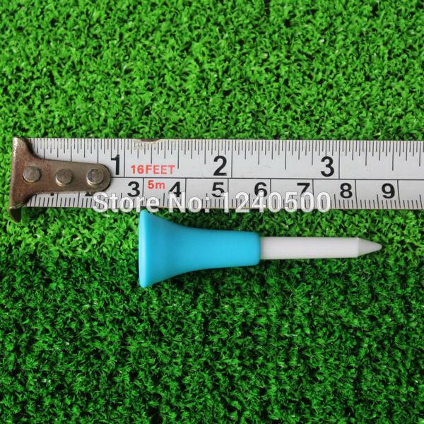 2017 New Golf Tools 100pcs 1 4/2 56mm Golf Tees Rubber Cushion Top Golf Equipment Muticolor Wholesale