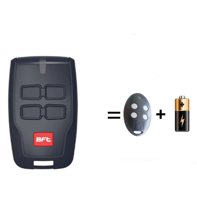 2pcs BFT Mitto 2 4, RCB02 RCB04 Garage door Hand Transmiiter Rolling Code 433.92MHz bft mitto 02 04 rcb02 rcb04 garage door opener remote control replacement 433mhz rolling code