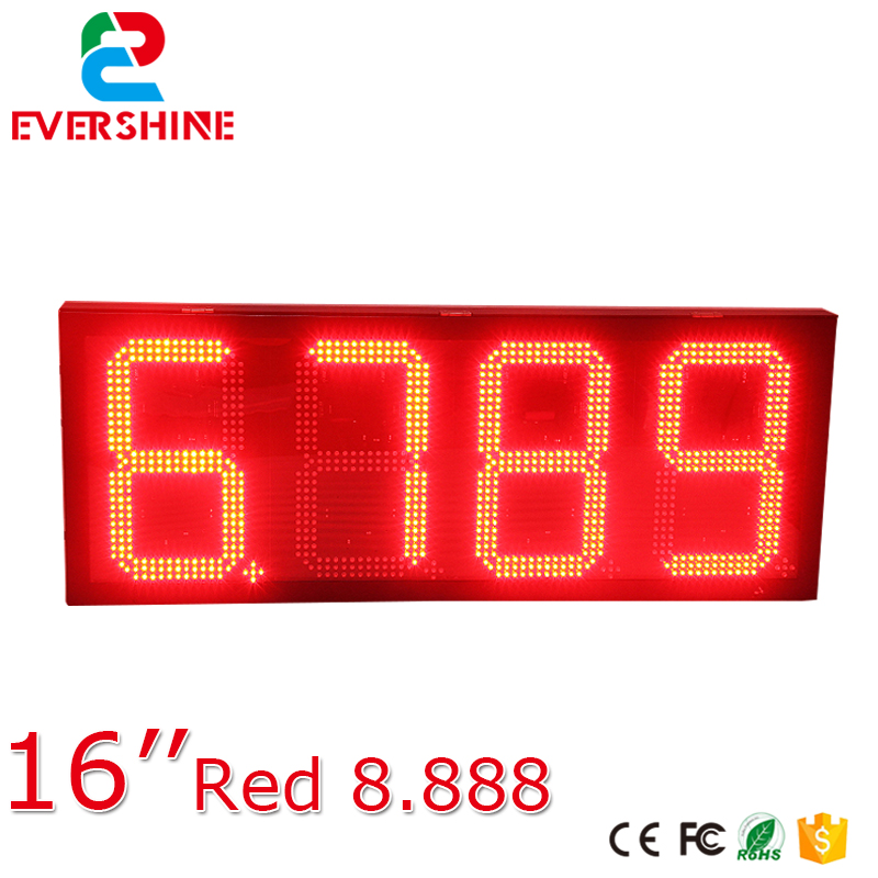 Hi-tech quality factory Oil station floor standing LED digital price screen oil price led screen for 16 inch red p6 fullcolor rental advertisingwifi led display floor standing digital signage