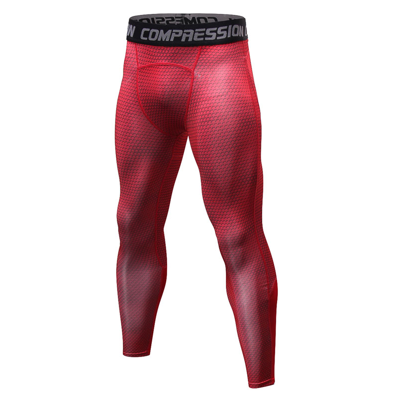 Men Pants 2018 New Compression Pants Brand Clothing Base Layer Tights Exercise Fitness Long Leggings Trousers Leisure Pants Man