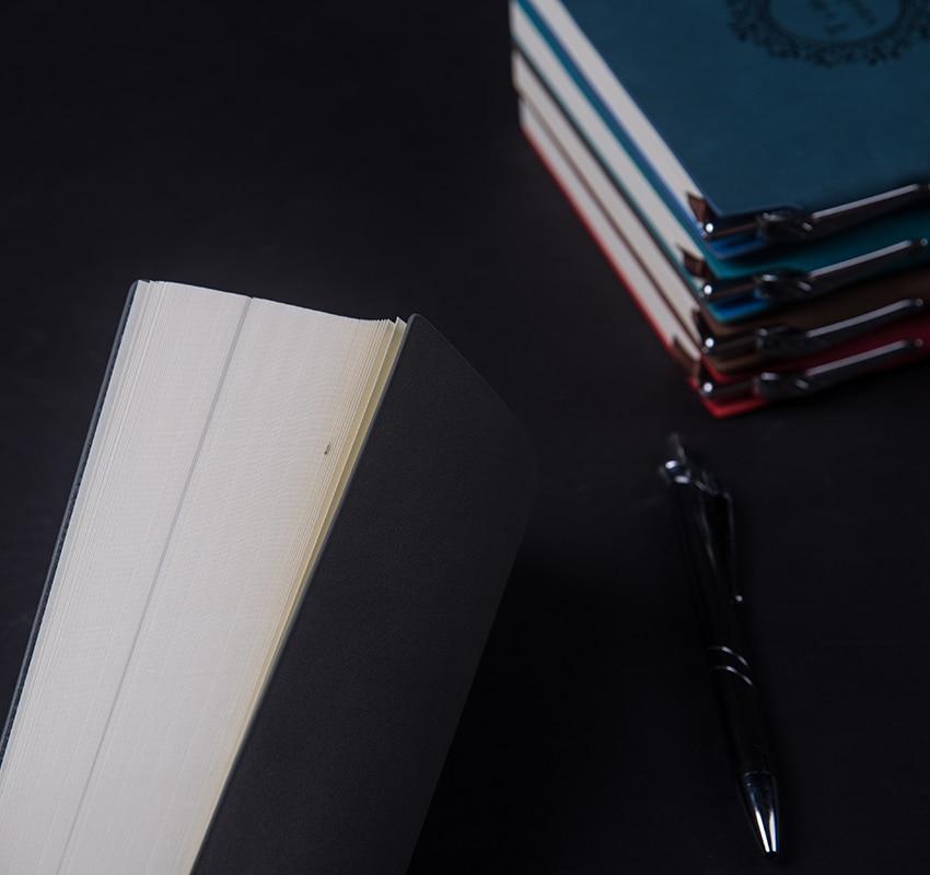 RuiZe Vintage dik notitieboekje met pen A5 lederen dagboek agenda - Notitieblokken en schrijfblokken bedrukken - Foto 6