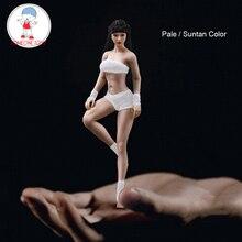 Collectible figura de ação boneca 1/12 escala figura do corpo feminino com cabeça esculpir super flexível corpo sem costura bronzeado pele pálida