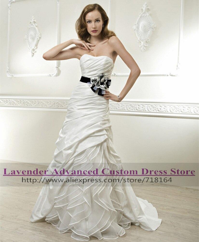 Wedding Dresses  Made In : Long satin beach wedding dress hot sale boda bridal dresses made