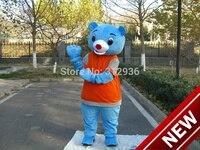 2018 новый синий медведь костюм персонажа из мультфильма Косплэй пользовательских продуктов на заказ Бесплатная доставка