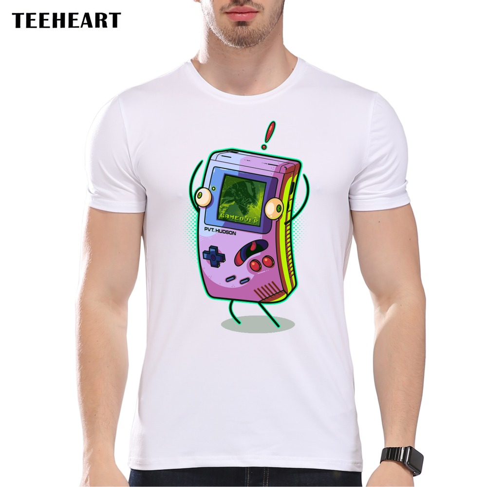 Shirt design video - Teeheart 2017 New Men S Video Game Design T Shirt Cool Tops Short Sleeve Game Over Hipster
