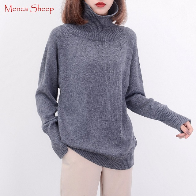 41e93d41d Top Sale Women s Sweater Cashmere and Wool Blend Thicker Pullovers Ladiese  sweaters Woolen Knitting Jumpers Winter Warm Clothes