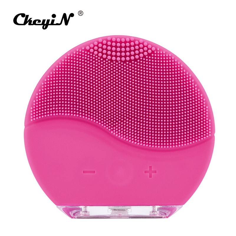 Electric Vibration Facial Cleansing Brush Silicone Sonic Face Pore Deep Clean Brush Blackhead Removal Skin Problem Solution 31Electric Vibration Facial Cleansing Brush Silicone Sonic Face Pore Deep Clean Brush Blackhead Removal Skin Problem Solution 31