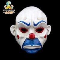 Dorosłych clown joker batman banku rabuś mask mroczny rycerz kostium halloween masquerade fancy maska żywicy darmowa wysyłka
