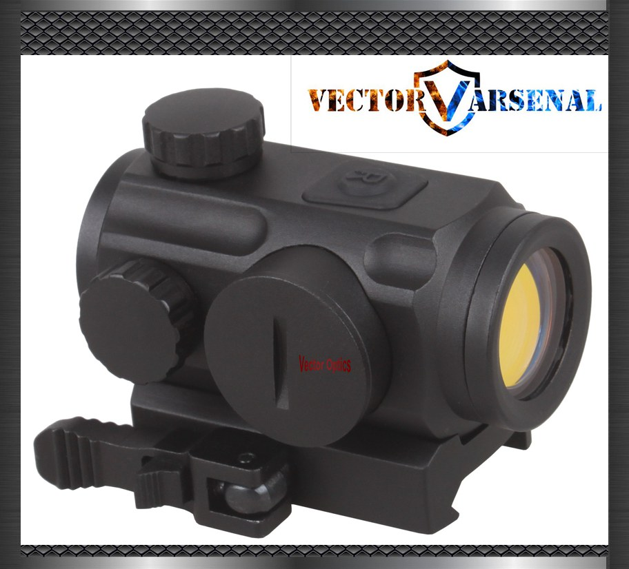 Vector Optics Mini 1x20 Tactical 3 MOA Red Dot Scope Holographic Sight with Quick Release Mount fit for AK 47 7.62 AR 15 5.56 image