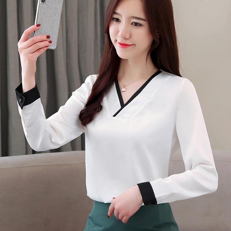 39cd33325f6d Moda mujer blusas 2019 primavera manga larga Mujer Camisas blusa de ...