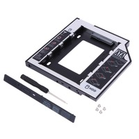 Hard Disk Drive Bay Universal 2.5 2nd 9.5mm Ssd Hd SATA Hard Disk Drive HDD Caddy Adapter Bay For Cd Dvd Rom Optical Bay New