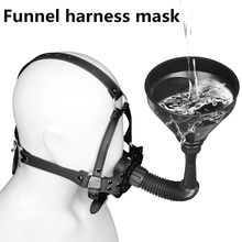 SM Sex Toy Funnel Harness Mask Head Cover Bondage Couples Flirting Adult Games Products