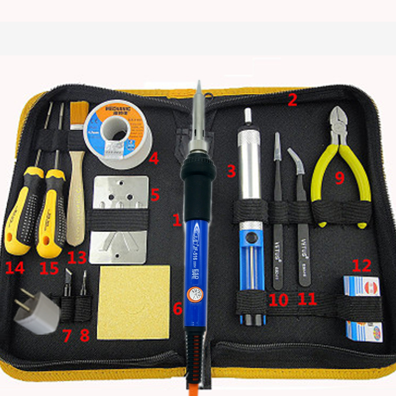 Adjustable Temperature Solder Soldering Iron 50W 220V Welding Rework Repair Tools Kit With Solder Tip Desoldering Pump универсальный набор инструмента thorvik uts0072 72 предмета 52059