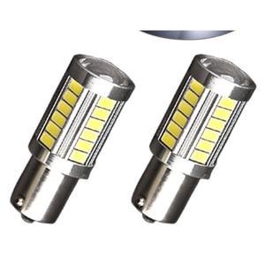 Image 5 - 2 個 Led 電球ライセンスプレートライト 1156 ホワイト 33SMD RV キャンピングカーインテリアランプバックアップリバースライト 1141 1073