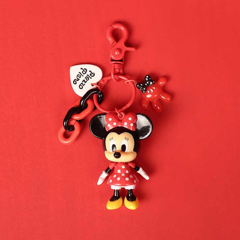 LLavero de caricatura linda de Mickey Minnie para mujeres y hombres, llaveros de regalo para niños