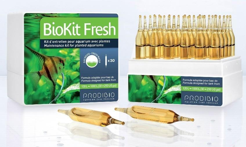 PRODIBIO BioKit Fresh maintenance kit for planted aquariums fish tank water treatment made in France water