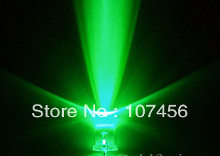 10000mcd 3mm Blinking Green Led Flash Water Clear Light Lamp 100pcs/lot Free Shipping!! 3mm Flashing Green Led
