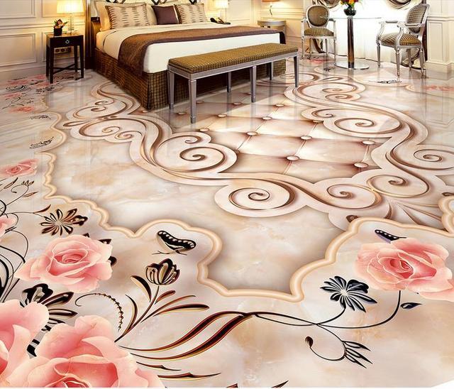 Marble Floor Mural : Custom vinyl floor tiles onyx marble photo wallpaper