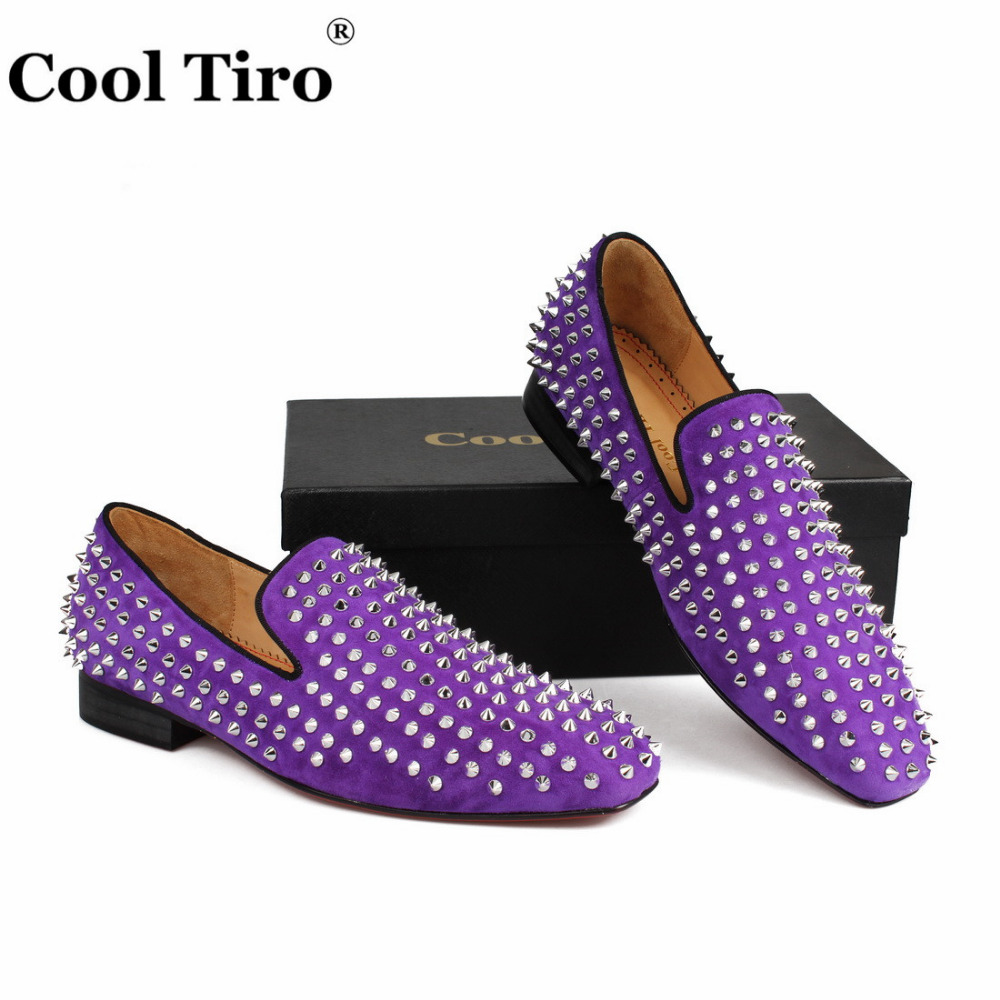 spikes Loafers purple suede  (7)