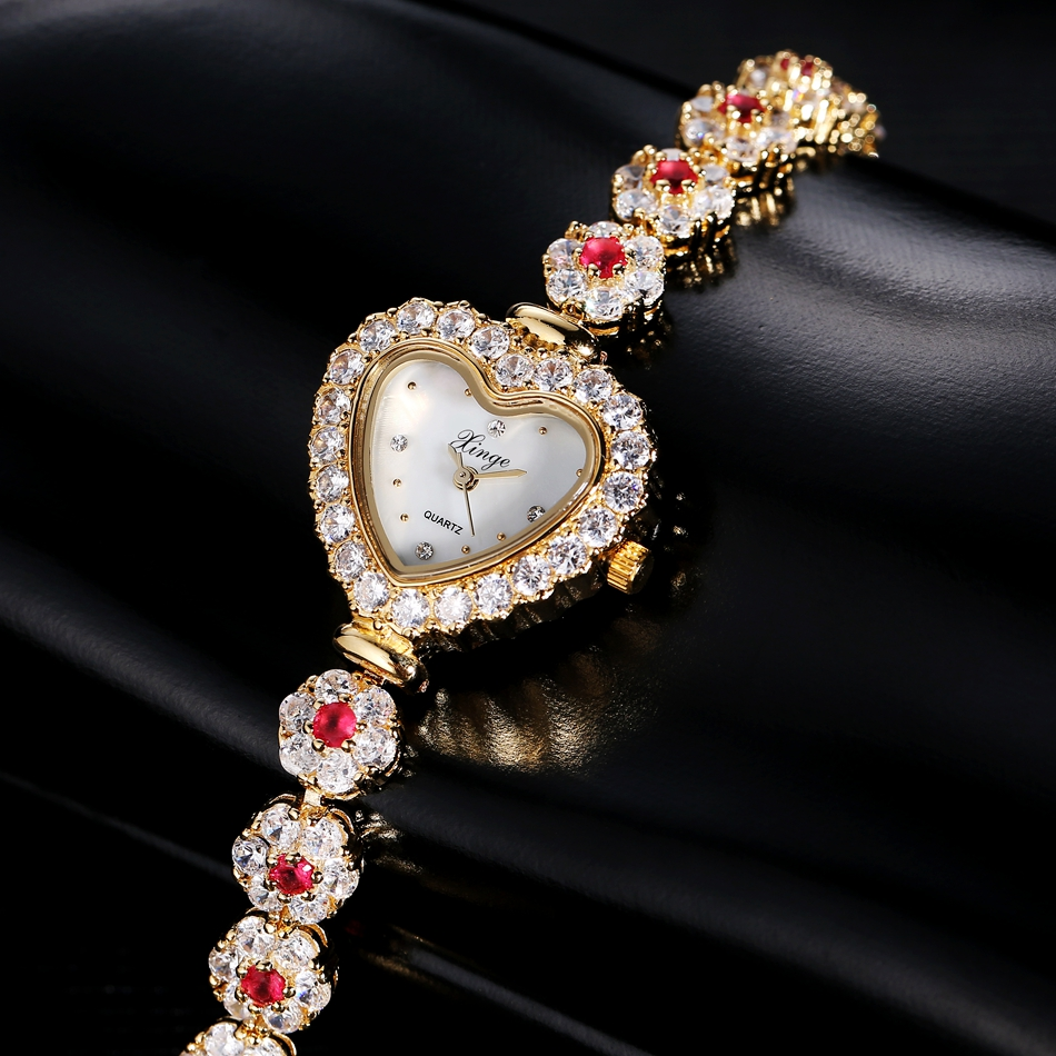 Luxury Women Watches Xinge Famous Brand Women Bracelet Watch Fashion Luxury zircon Women Crystal Dress Quartz Watches Feminino