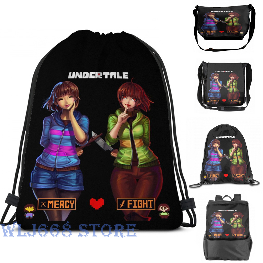 Funny Graphic Print Shoulder Bags Women Undertale Mercy Or Fight Single Shoulder Backpack Travel For Men Gym Bag Backpacks Aliexpress