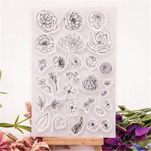 Venda quente lista de flores selo claro/selo de silicone flor selo diy álbum de scrapbook/cartão produção