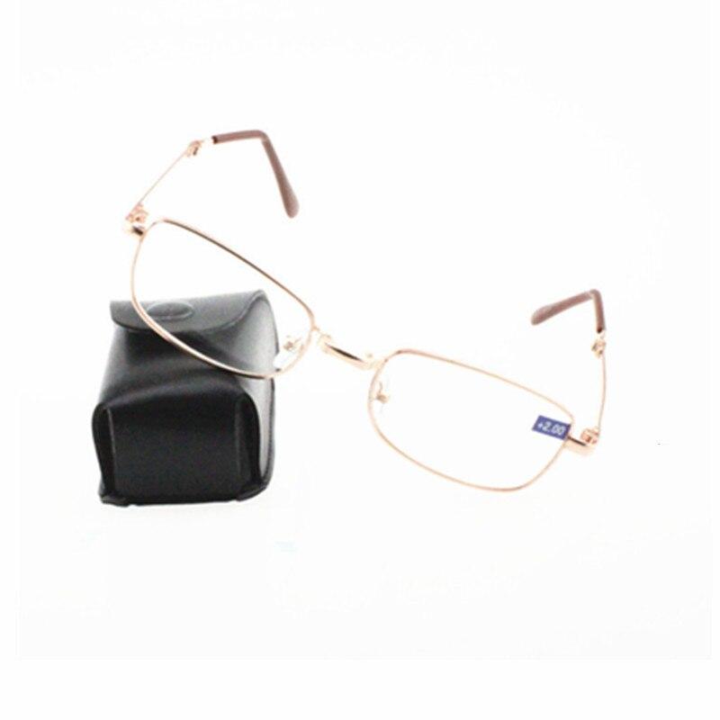 Mens Business Folding Anti Fatigue Reading Glasses High Grade Foldable Pocket Presbyopia Reader Eyewear with box