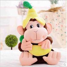 lovely banana monkey plush toy doll creative cartoon mascot birthday gift