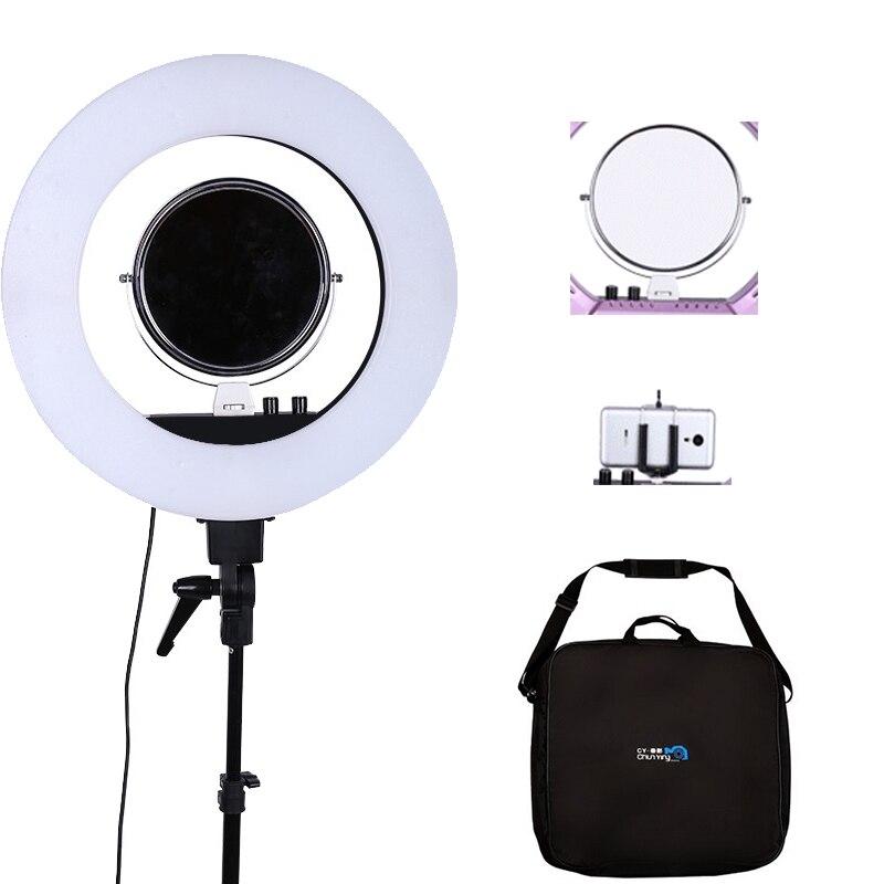 """bilder für Fosoto 18 """"5500 Karat Dimmbare LED Justierbare Ring Licht 480 led 5500 Karat Kamera Macro Ring Licht für Make-Up & Schönheit Fotografie/Video"""