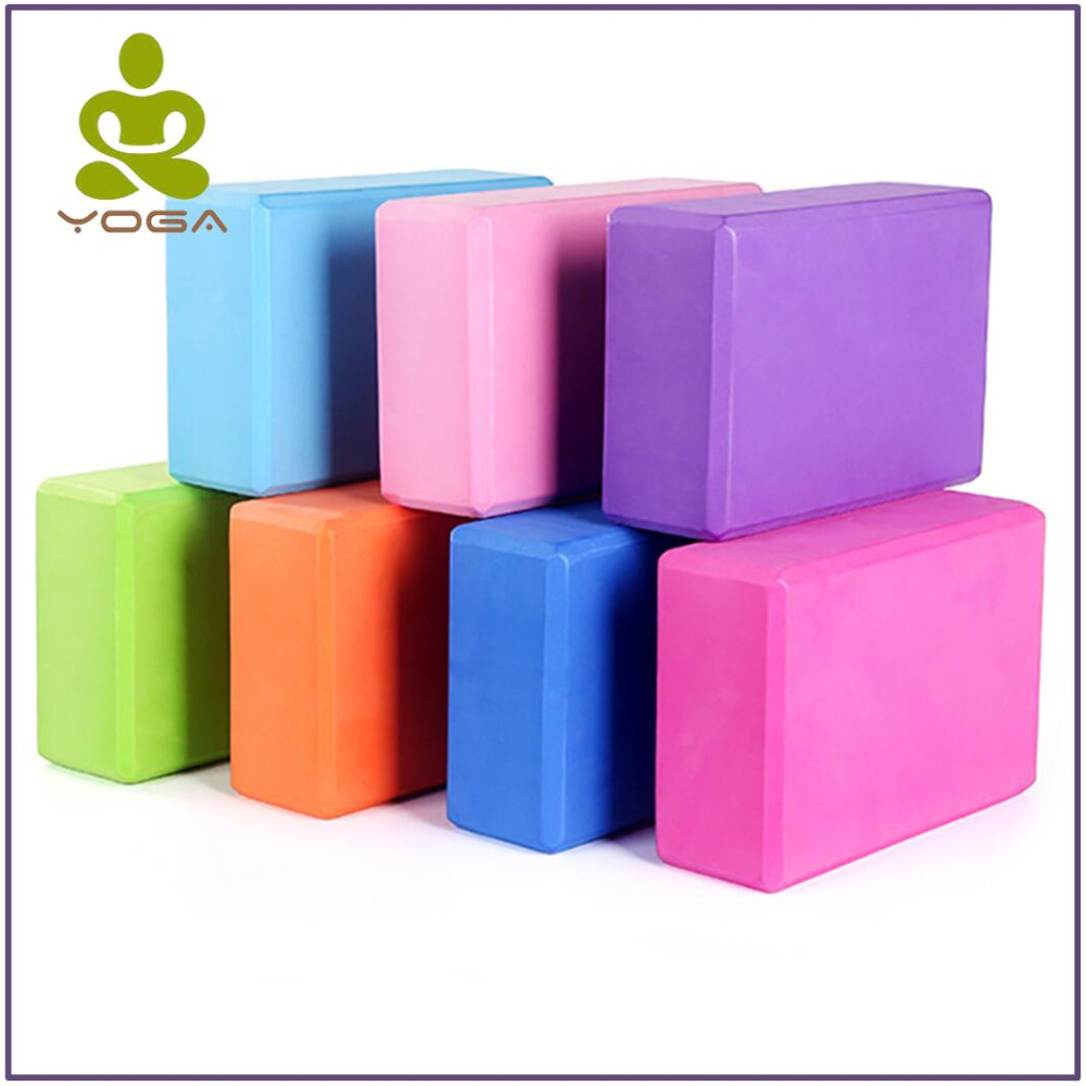 Yoga Block Props Foam Brick Stretching Aid Gym Pilates Yoga Block Exercise Fitness Sport 5 Color High Quality