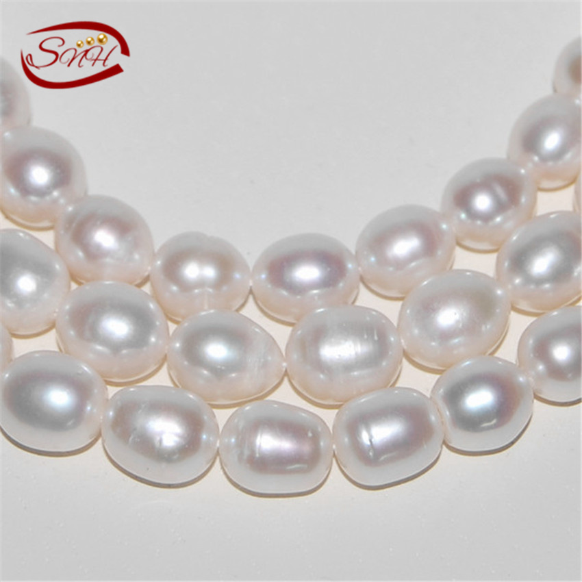 SNH 5 strands/package 10-11mm AA- white color pearl strings nice quality