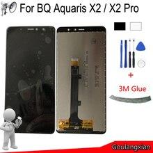 أسود/أبيض AAA الأصلي LCD ل BQ Aquaris X2 شاشة الكريستال السائل مجموعة المحولات الرقمية لشاشة تعمل بلمس استبدال ل BQ Aquaris X2 برو LCD