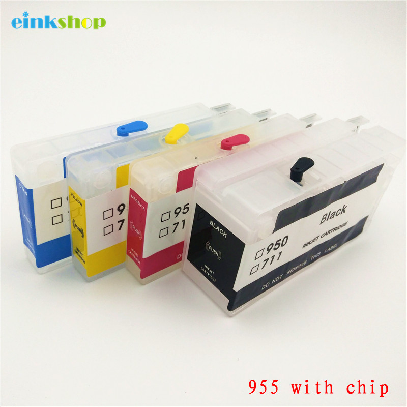 einkshop 955 Refillable Ink Cartridge With Chip Replacement For HP 955 xl Officejet Pro 8216 8710 8720 8210 8702 8218 8715 8716 hot sales ink cartridge for hp officejet pro 7740 8210 8216 8218 8710 compatible cartridge with bk c m y original cartridge