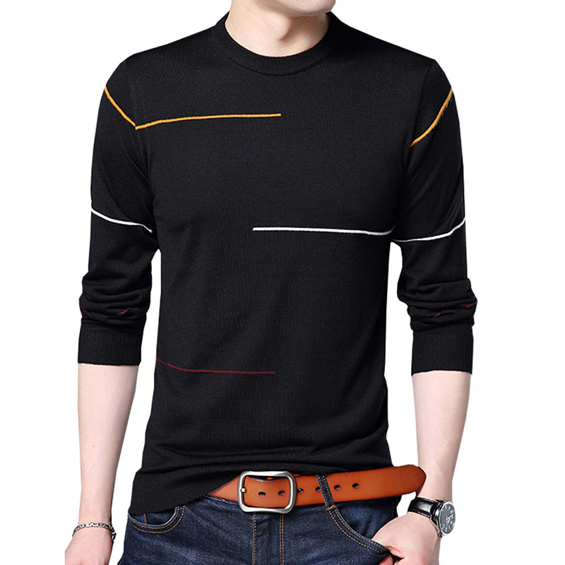 2018 New Men Brand Clothing Autumn Spring New Arrival Slim Warm Sweaters O-Neck Pullover Men Top