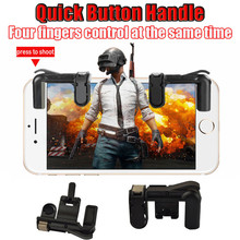 Scorching Cellphone Cell Gaming Set off Fireplace Button Deal with for L1R1 Shooter Controller PUBG 180406 drop delivery