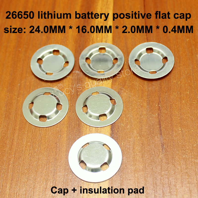 25pcs/lot 26650 lithium battery anode negative spot welding cap film 26700 lithium battery cathode ear accessories