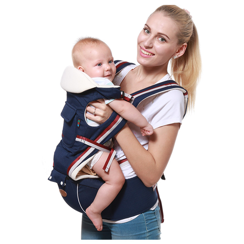 Luxury Ergonomic Baby Carrier Waist Stool Backpack Kangaroo Toddler Baby Sling Wrap Breathable Adjustable Infant Hip Seat 2016 hot portable baby carrier re hold infant backpack kangaroo toddler sling mochila portabebe baby suspenders for newborn
