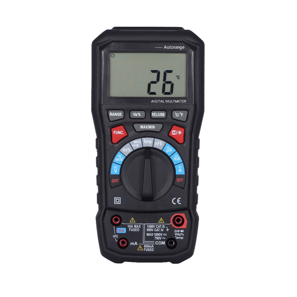 BSIDE ADM20 6000 Counts TURE RMS Auto Range Digital Multimeter DMM USB Interface Support PC with Backlight mastech ms8226 dmm 3 3 4 digital multimeter auto range capacitance resistance temperature backlight