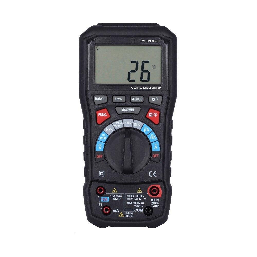 BSIDE adm20 6000 отсчетов Туре RMS Авто Диапазон Цифровой мультиметр DMM USB Интерфейс Поддержка ПК с Подсветка