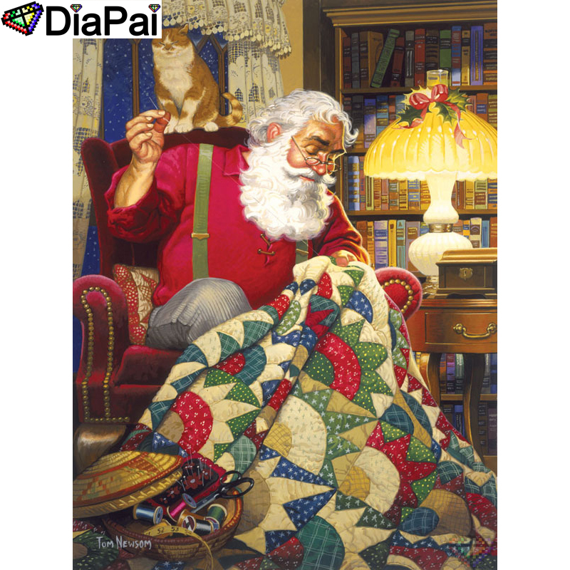 DIAPAI 5D DIY Diamond Painting 100 Full Square Round Drill quot Character old man quot Diamond Embroidery Cross Stitch 3D Decor A21845 in Diamond Painting Cross Stitch from Home amp Garden