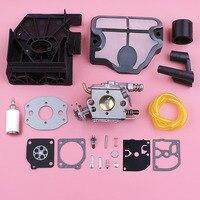 Carburetor Carb Repair Kit For Husqvarna 136 137 141 142 Gasket Grommet Air Filter Intake Manifold Chainsaw Replace Spare Part