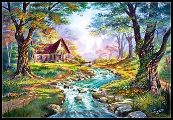 Needlework for embroidery DIY French DMC High Quality - Counted Cross Stitch Kits 14 ct Oil painting - Colors of Autumn