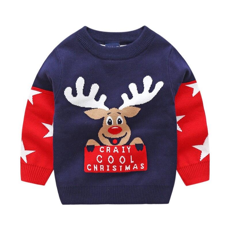 2-8y Kinder Weihnachten Kostüme Baby Mädchen Pullover Winter Deer Gestrickte Kleinkind Jungen Rot Pullover Kinder Kleidung Top Pullover Fein Verarbeitet