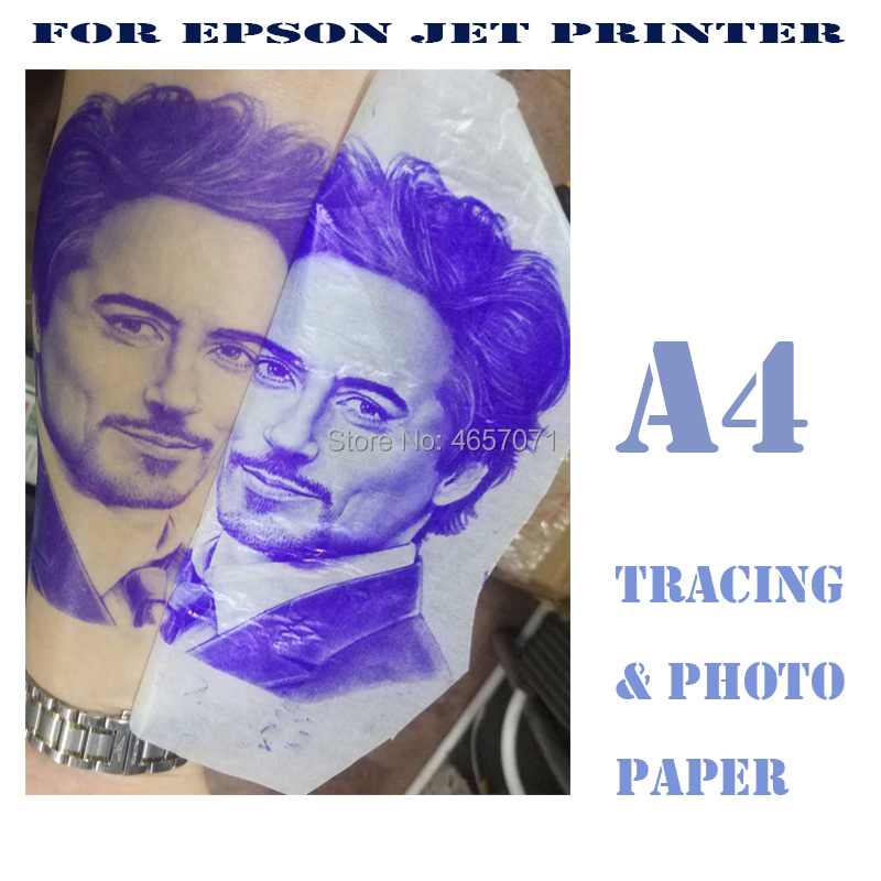 FREE SHIPPING INKJET Tattoo Stencil & Transfer Tracing Paper A4 Size, 800mm Long Size For Printer Only And NOT EASY TO JAM