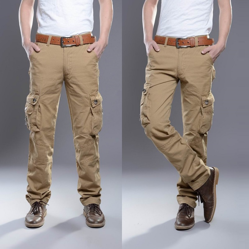 Aliexpress.com : Buy 2015 Men Cargo Pants Cotton Multi Pocket ...