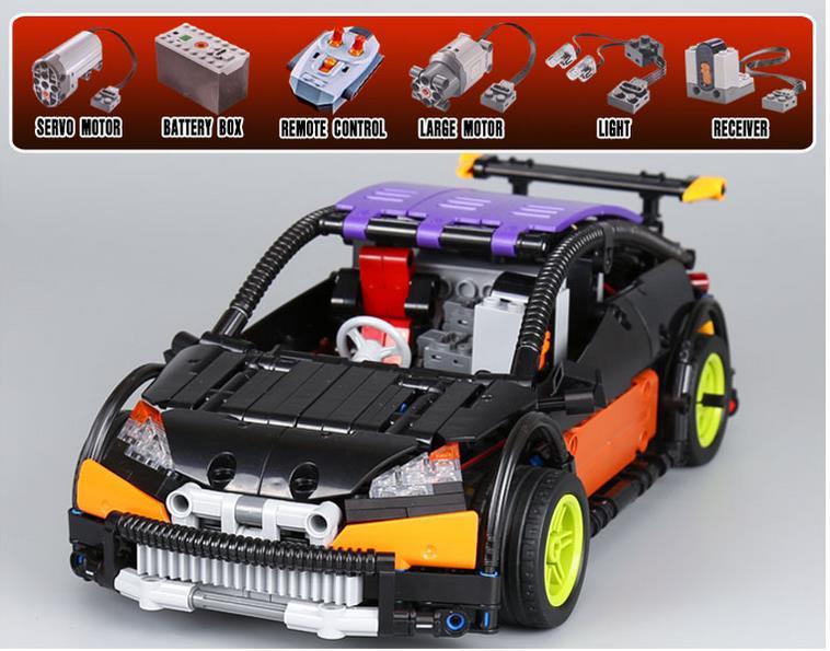 2018 Lepine Genuine New Technic Series The Hatchback Type R Set MOC-6604 Building Blocks Bricks Educational Toys Boy Gifts Model lepine model