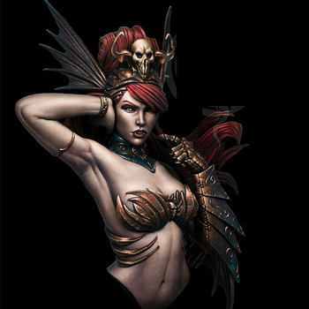 1/10 Lady Sibilla, Resin Model Bust GK, Science fiction theme, Unassembled and unpainted kit